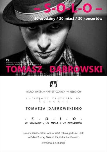 BWA zaproszenie koncert soloTomasz Dabrowski