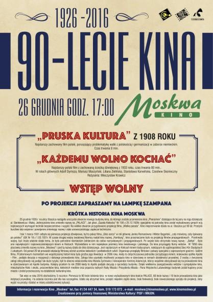 MOSKWA_90 lecie kina plakat