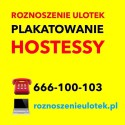 Roznoszenie Ulotek, Plakatowanie, Hostessy - KIELCE